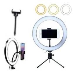 Ring Light de mesa 16cm com suporte para celular