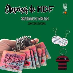 Título do anúncio: Chaveiros em MDF personalizados de vários formatos