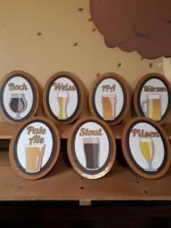 Placas decorativas de cerveja