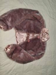 Jaqueta peluda tamanho 4