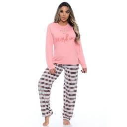 Pijama calça e blusa de manga