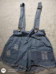 Título do anúncio: Jardineira jeans, feminino, tamanho 42.