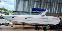 Título do anúncio: Lancha Tecnoboats 28-Sport Cab (Cabinada) Parelha Mercruiser 1.7 de 120hp diesel