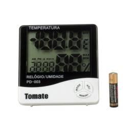 Relógio Digital Termo Higrômetro Tomate PD-003 - Temperatura e Umidade- Somos Loja