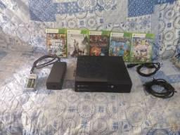Xbox 360 fonte original carregador de pilhas com 2 pilhas jogo dentro do Xbox estalados
