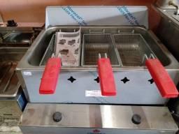Fritador retangular 3 cestos