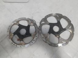 Par Disco Freio Rotor Shimano Xt Ice Tech Rt86 160mm E 180mm
