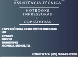 Concerto de impressoras/copiadoras e notebooks