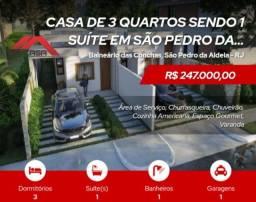 Título do anúncio: (C@@R*SP3004)  Linda Casa 3 Quartos em São Pedro da Aldeia