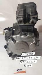 Motor parcial Honda Cg 150 Titan Ks 2008 com nota fiscal