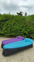 Puff inflável ,sofa camping, piscina        promoção 100 reais