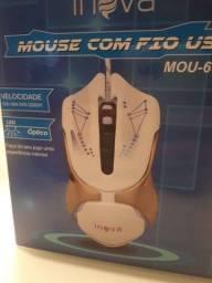 Mouse com Fio USB 3200 dpi - Novo
