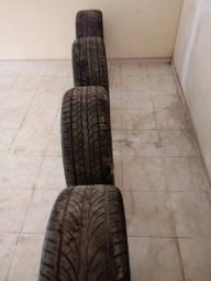 Vendo 4 rodas cromadas aro 22 com pneus novos