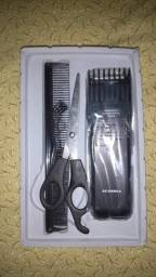 Máquina de cortar cabelo e barba com 6 regulagem recarregável