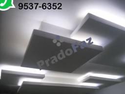 Drywall, Gesso, Cimentícia, Naval (Eucatex), PVC ? Paredes, Divisórias, Forros, Sancas