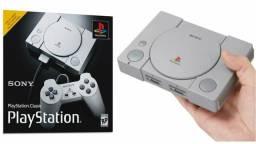Playstation classic retrô com 20 jogos, lançamento sony original