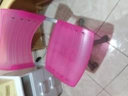 Cadeira escritório rodinhas. Rosa pink