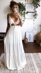 Vestido longo Branco Tam 38/42