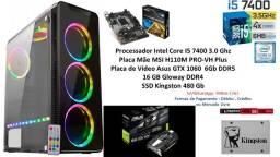 PC Gamer Core I5 7400 16Gb GTX 1060 6Gb + Brindes !!!