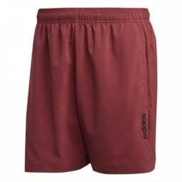 Short Adidas Essentials Plain Chelsea Vinho , Original. Tamanho GG