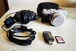 Câmera Panasonic LX100 filma 4k lente fixa f1.7+ cartão 256gb+ brindes