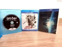 Blu Ray 3 D Combo de três filmes em perfeito estado