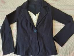 Blazer feminino lapela casaco de manga comprida
