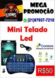 Mini Teclado Wireless c/ Led (SEM FIO)