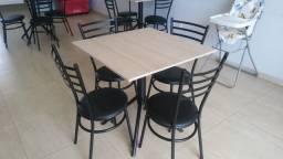 Jogos de mesas e cadeiras para lanchonete e restaurante