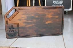 Tábua de Carne Personalizada - Madeira Itauba 60cm x 35 cm x 3,5cm