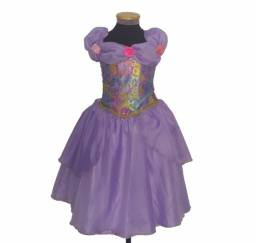 Fantasia Princesa Sofia Vestido Infantil Lilás