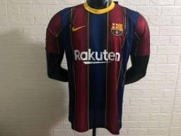 Barcelona 2020/2021 Camisa Futebol I - Masculino - Top Thai