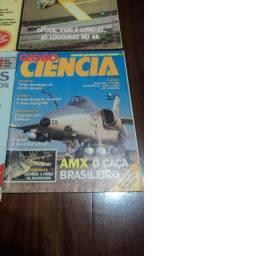Lote de 4 Revistas Guerra Moderna, Globo Ciência e Voar