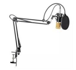 Promoção Microfone Profissional Bm800 Condensador - Novo