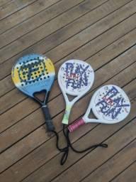 Raquetes de Paddle: 01 adulta e 2 Infantil