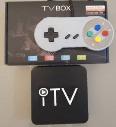 Tvbox Iptv 350 canais 4 mil jogos