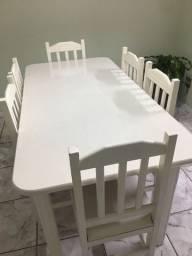 Mesa de Madeira maciça branca