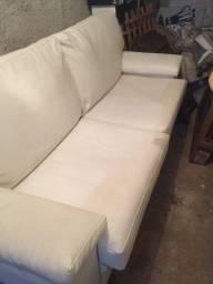 Título do anúncio: Sofá 3 lugares sala de estar milano 210 cm Corano Náutico Branco Gran Belo