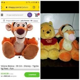Kit pelucia c urso Pooh e Tigrão 30cm cada originais Disney