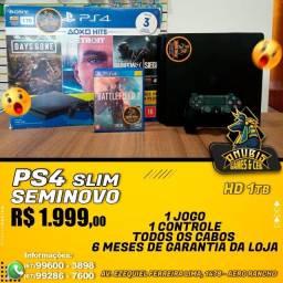 Anubis Games: PS4 Slim 1TB seminovo !!!
