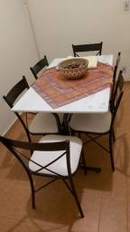 Título do anúncio: Conjunto 6 lugares mármore - mesa e cadeiras