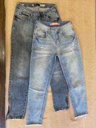 Título do anúncio: Duas calças e um vestido jeans