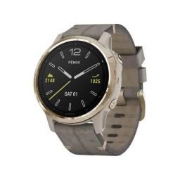 Relogio Smartwatch Garmin Fenix 6S Sapphire - Dourado Light