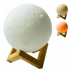 Umidificador de Ar e Aromatizador Lua 3D