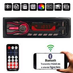 Aparelho Auto Radio Automotivo Som Universal 1 Din Com Bluetooth Mp3