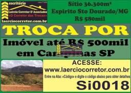 Troca Sítio Espirito Santo do Dourado-MG Por Imóvel em Campinas/SP até R$ 500mil (Detalhes