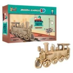 Título do anúncio: Quebra Cabeça Trem 3D Montar Locomotiva Maria Fumaça Educativo Pedagógico