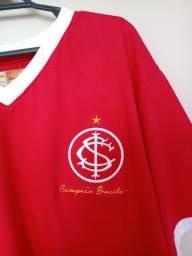 Título do anúncio: Camiseta SC Internacional Retrô 1975 * Campeão Brasileiro *