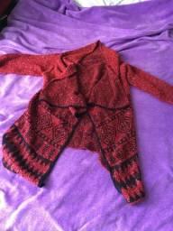 Cardigan vermelho de lã novo