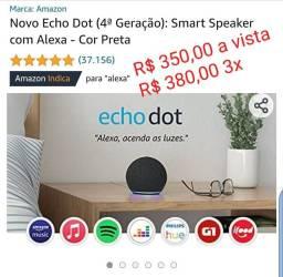 Alexa Echo Dot (4ª Geração) - Preta<br><br>